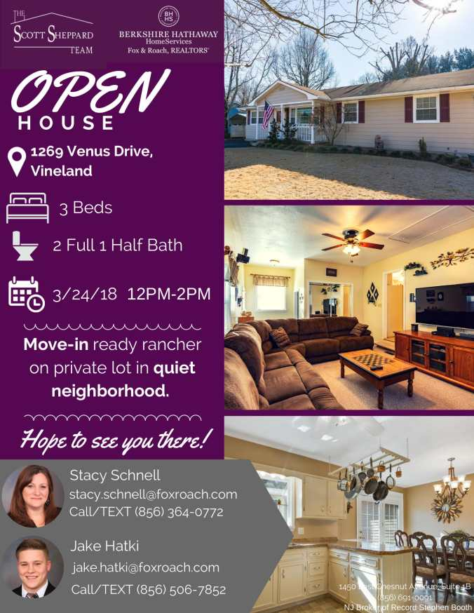 OPEN HOUSE FLYER 1269 VENUS