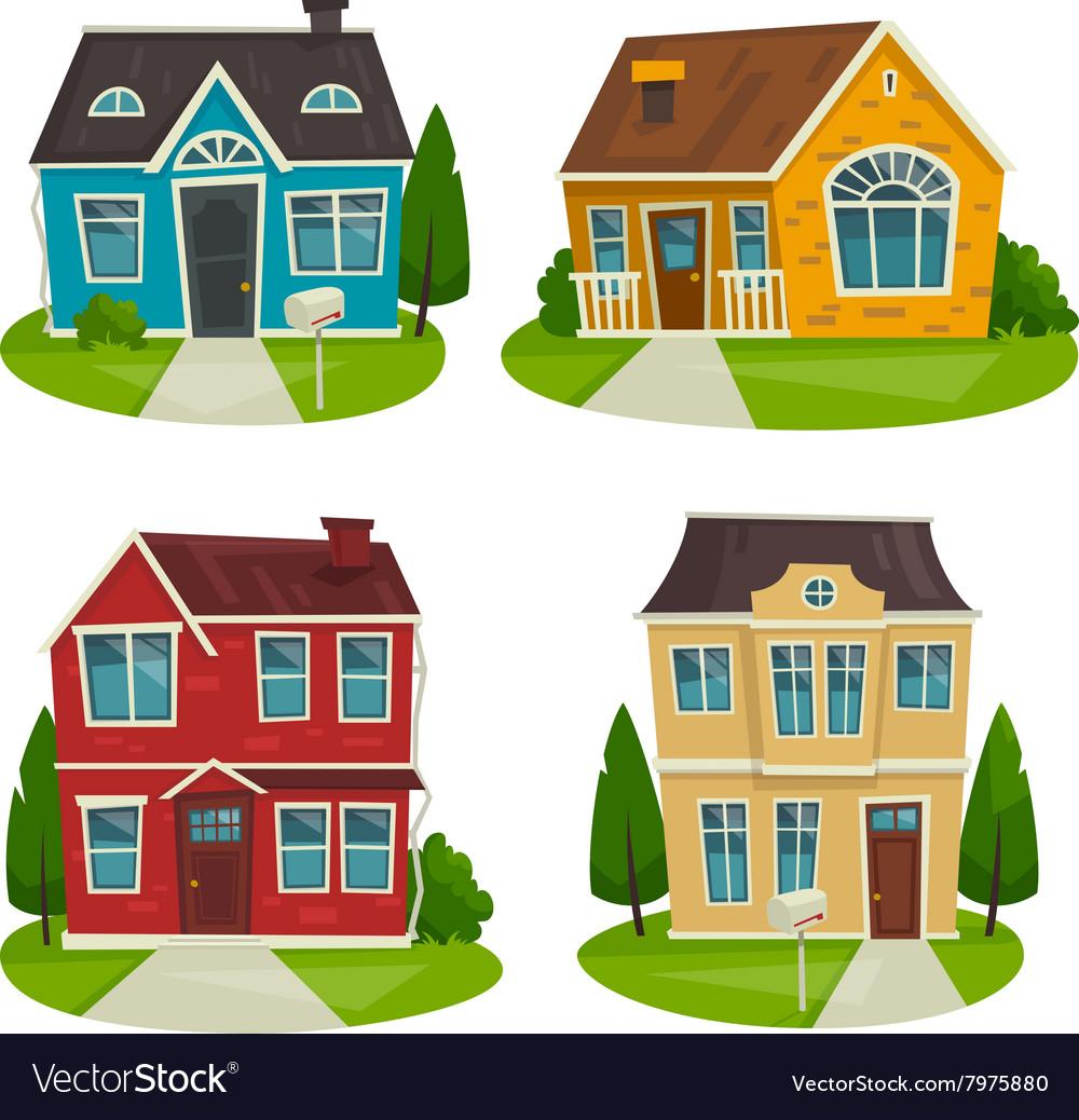 houses-cottage-set-cartoon-exterior-design-vector-7975880
